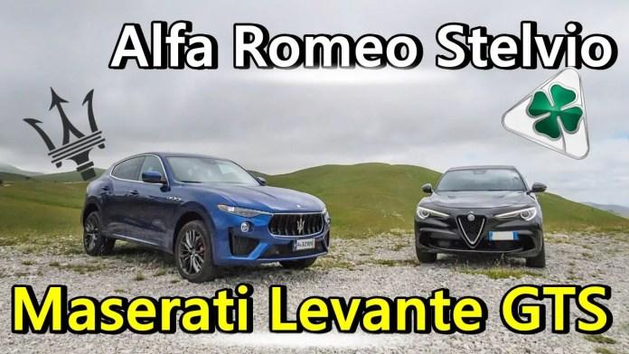 Alfa Romeo Stelvio Quadrifoglio V6 VS Maserati Levante GTS V8 🚀 La Sfida dei SUV Sportivi