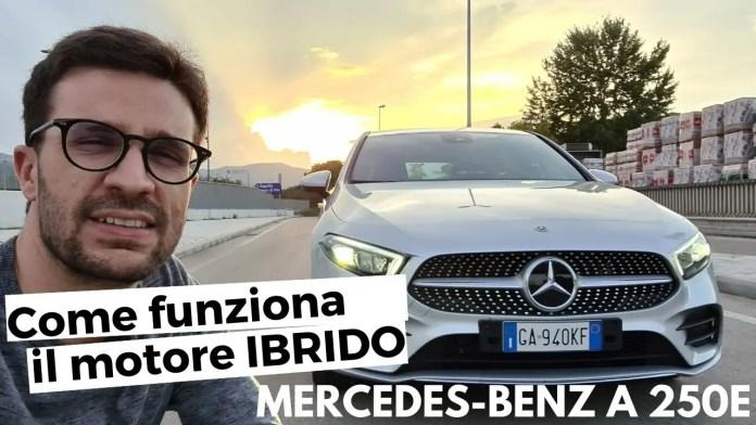 Mercedes-Benz A 250e 2021, FOCUS MOTORE ibrido Plug-In [VIDEO]