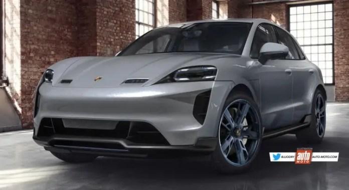 Nuova Porsche Macan 2022, Anticipazioni e Rendering della versione Elettrica