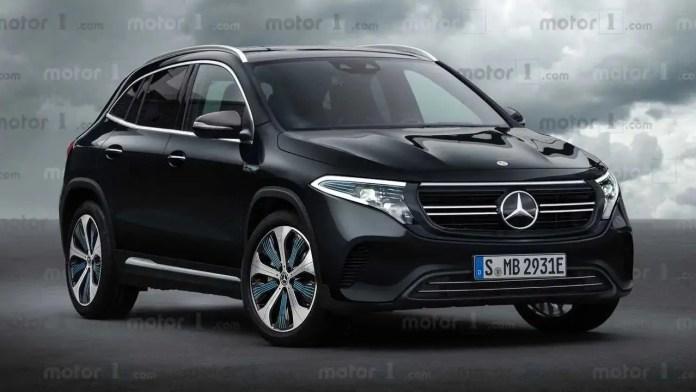 Nuova Mercedes EQA 2021, il Crossover elettrico in Anteprima Rendering