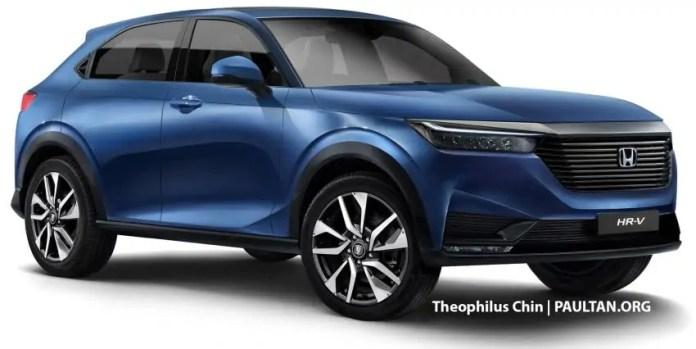 Nuova Honda HR-V 2022, Rendering e Anticipazioni