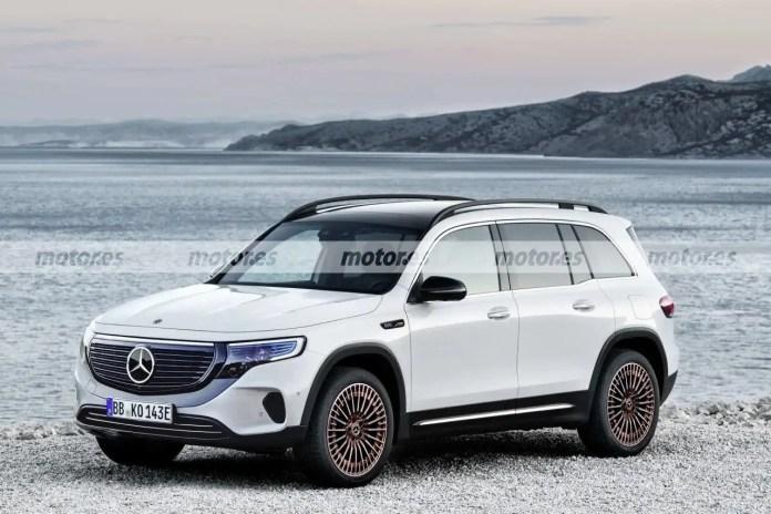 Nuova Mercedes-Benz EQB 2022, il Rendering in Anteprima
