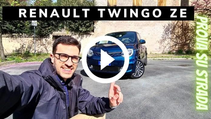 Renault Twingo ZE 82 CV100% Elettrica   Video Prova su strada