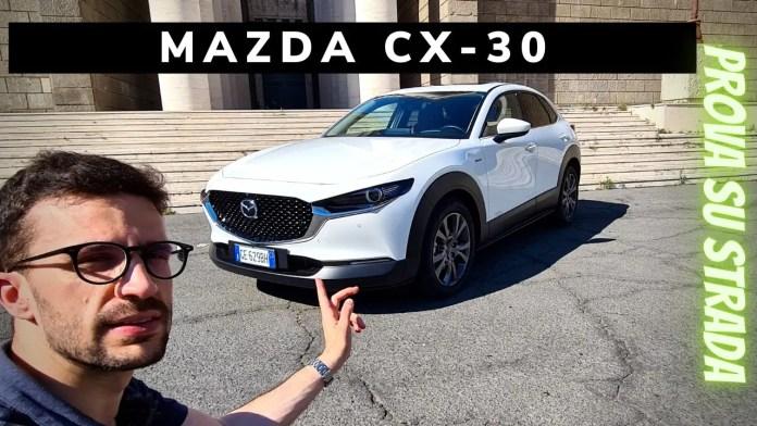 Mazda CX-30 2.0 e-SkyactivX 186 CV   Prova su strada [VIDEO]