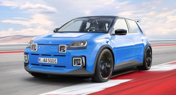 Nuova Renault 5 elettrica 2023, Rendering della Alpine A5
