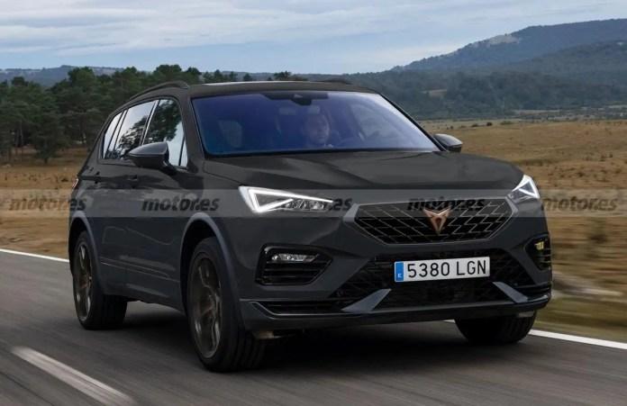Nuova CUPRA Tarraco 2023, Rendering del SUV sportivo