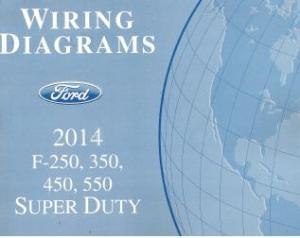 2014 Ford F250, F350, F450, F550 Truck Factory Wiring Diagram Schematics