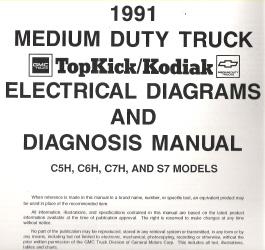 1991 GMC TopKickKodiak Medium Duty Trucks C5H, C6H, C7H