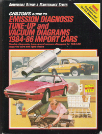 1984  1986 Chilton's Guide to Emission Diagnosis, TuneUp and Vacuum Diagrams Import Cars