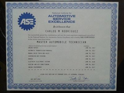 Ase Automotive Mechanic Specialists San Antonio