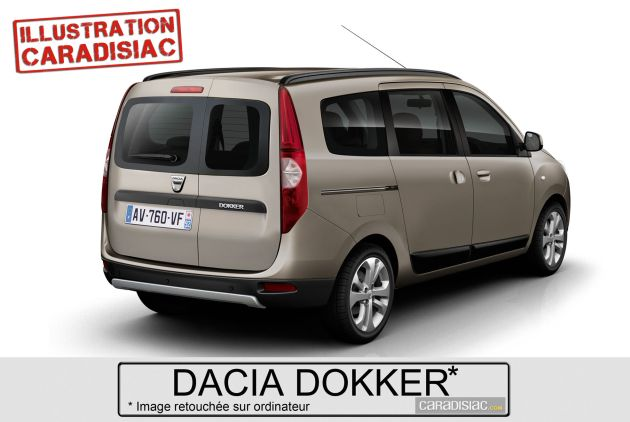 dacia_dokker_render Dacia Dokker: il render dell'inedita multispazio romena