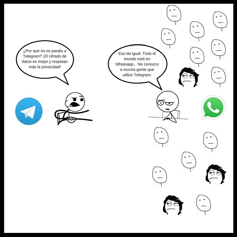 ¿Por qué no os pasáis a Telegram- ¡El cifrado de datos es mejor y respetan más la privacidad! (1)