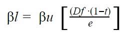 Cómo se apalanca el coeficiente beta