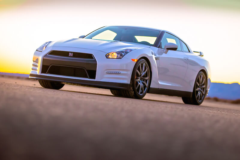 2014 Nissan GT-R ground level view