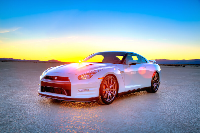 Lower view of the 2014 Nissan GT-R