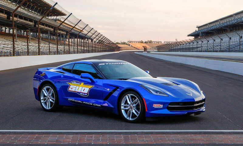 The Corvette Stingray Indy 500 pace car