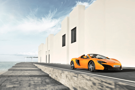 Front end of the Mclaren 650s Spider