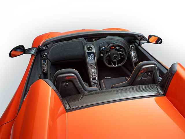 Interior of the Mclaren 650s Spider