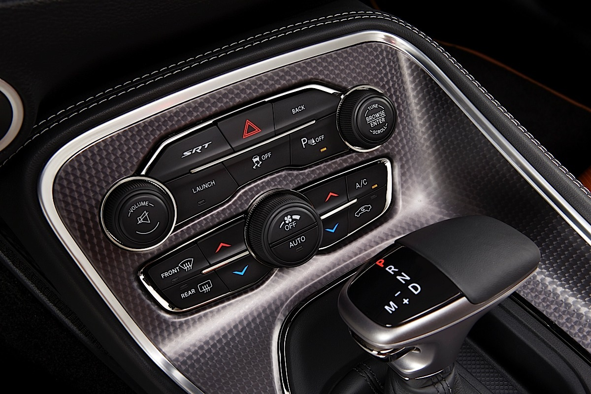 2015 Dodge Challenger SRT Hellcat integrated climate and function controls