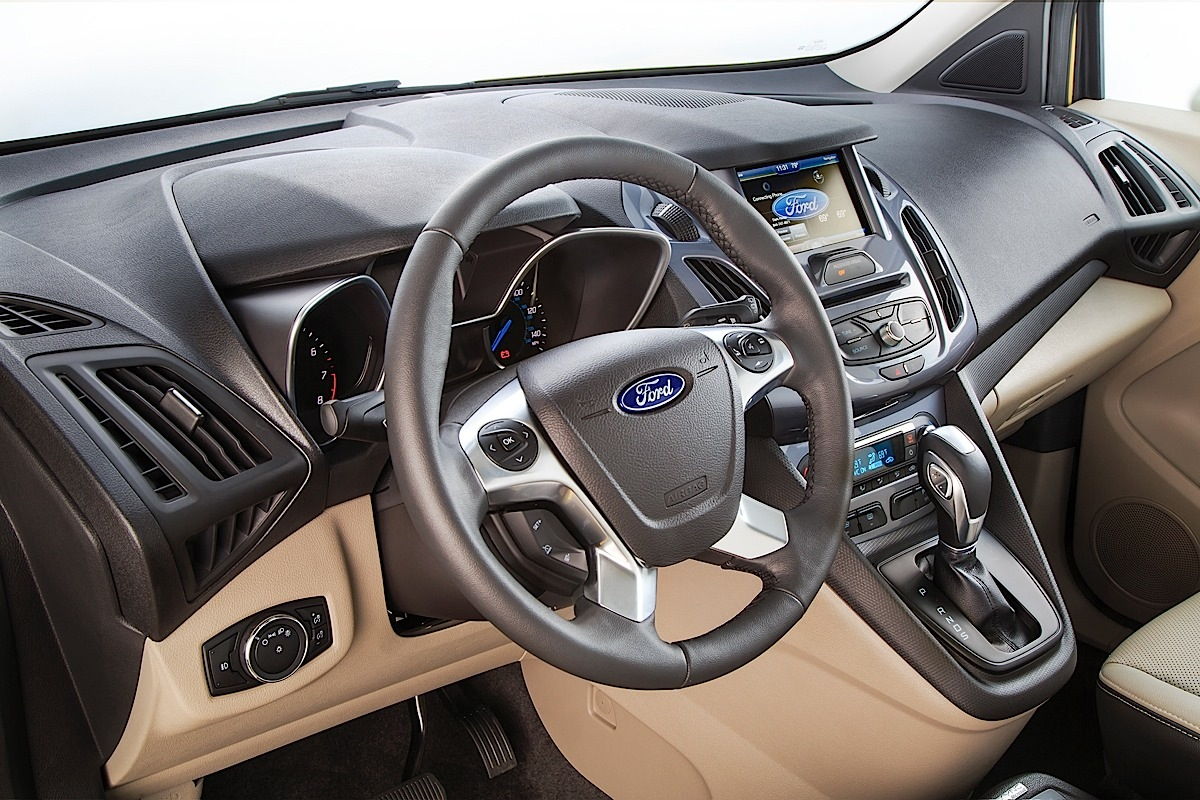 Ford Transit Connect Wagon, wheel and dash.