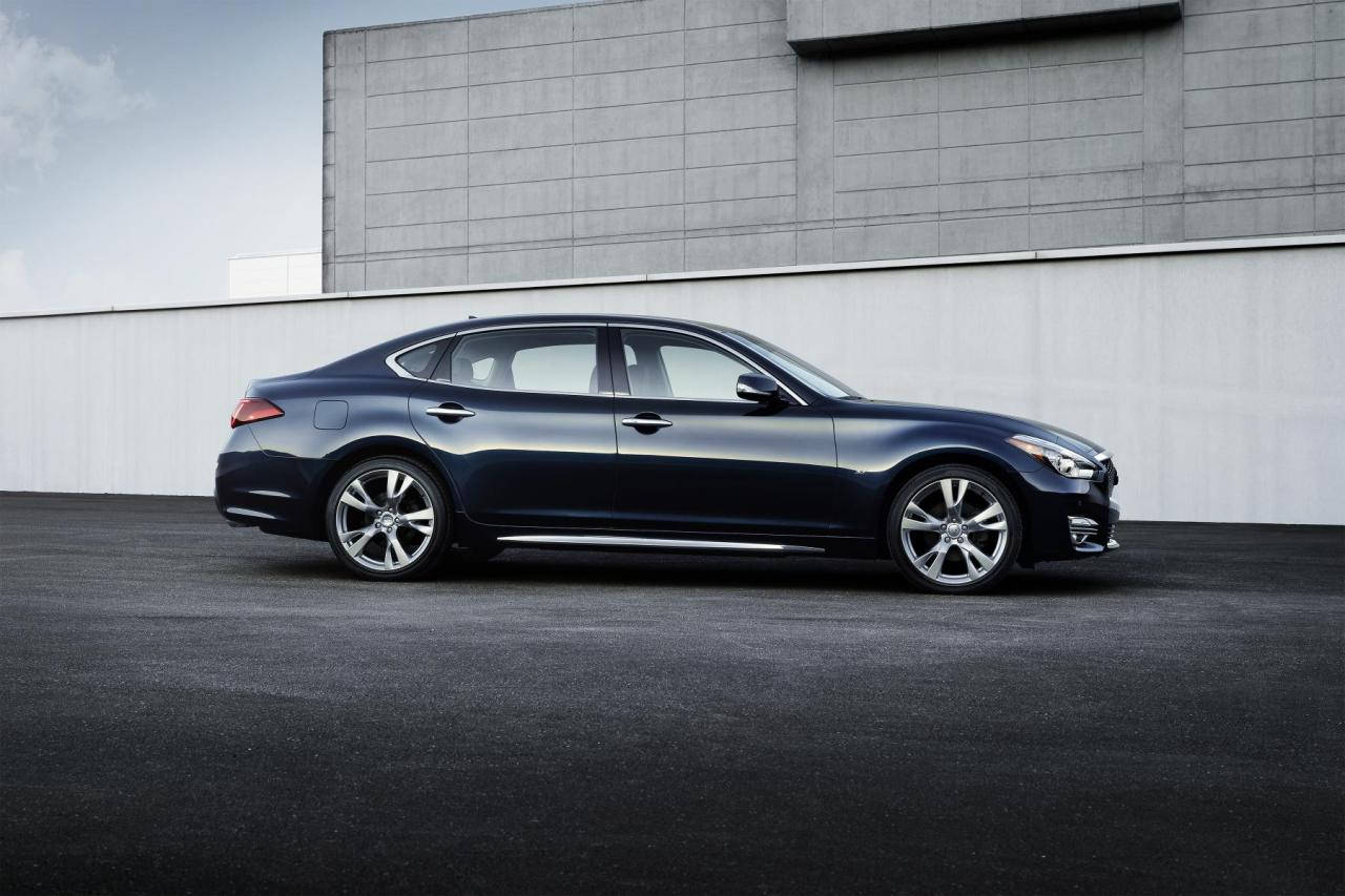 The 2015 Infiniti Q70L side view.