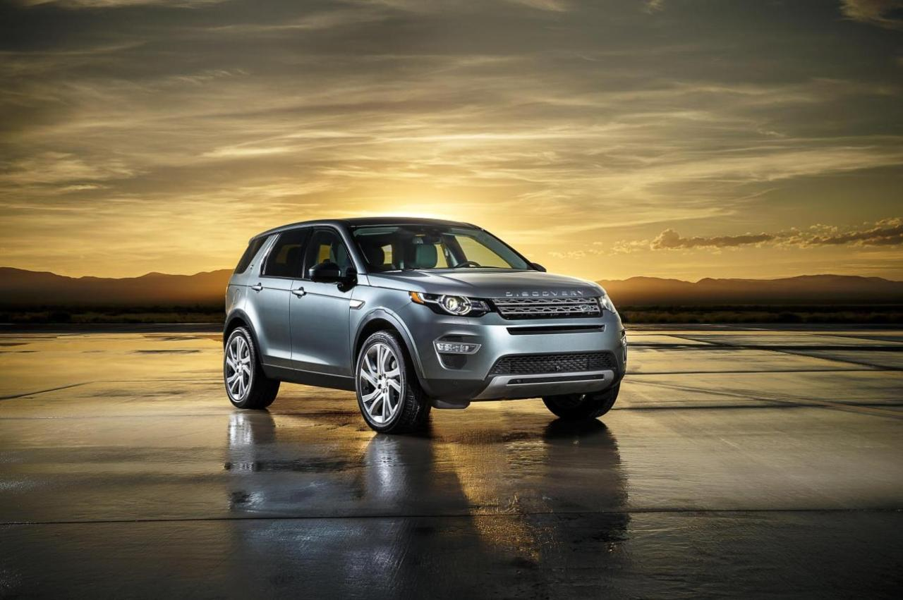 The Land Rover Discovery Sport.