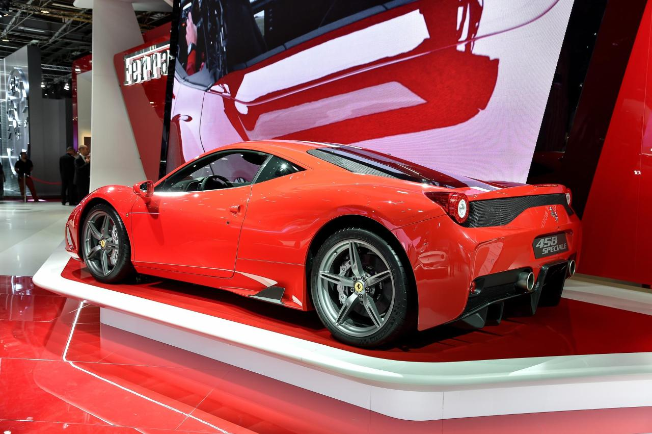 Ferrari 458 Speciale at the Paris Auto Show.