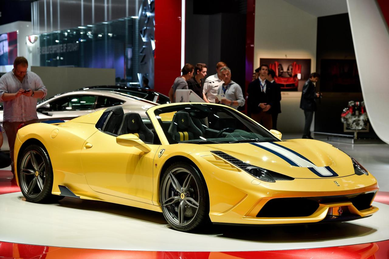 Ferrari 458 Speciale A at the Paris Auto Show.