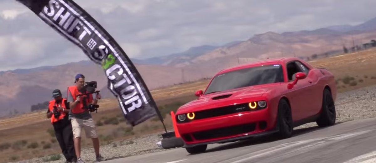 Hellcat takes on GT500 and Supra in half mile