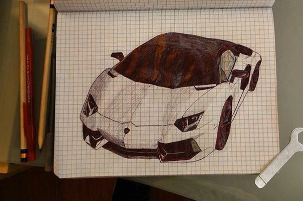 Lamborghini Want You To Draw Your Favorite Model