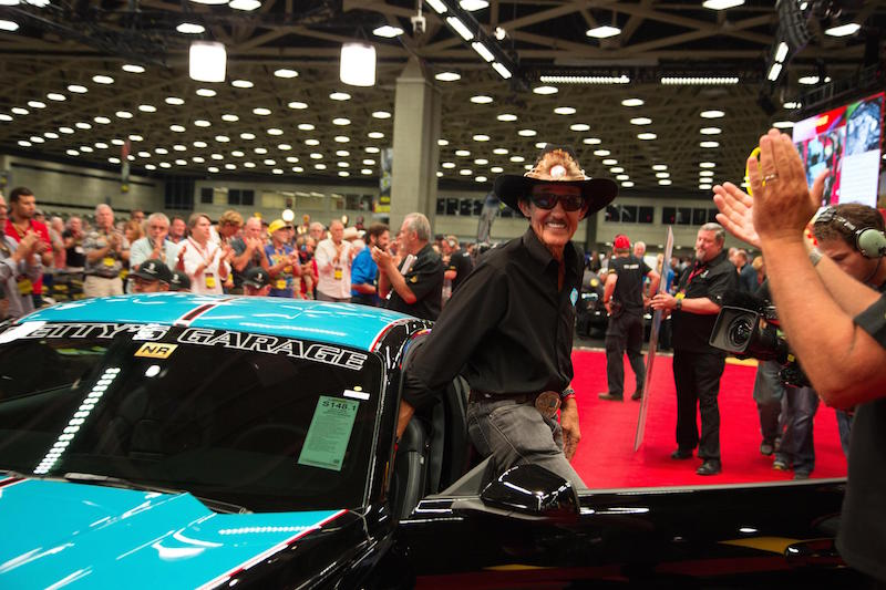 Richard Petty Mustang Sells TWICE At Auction To Help Injured Vets