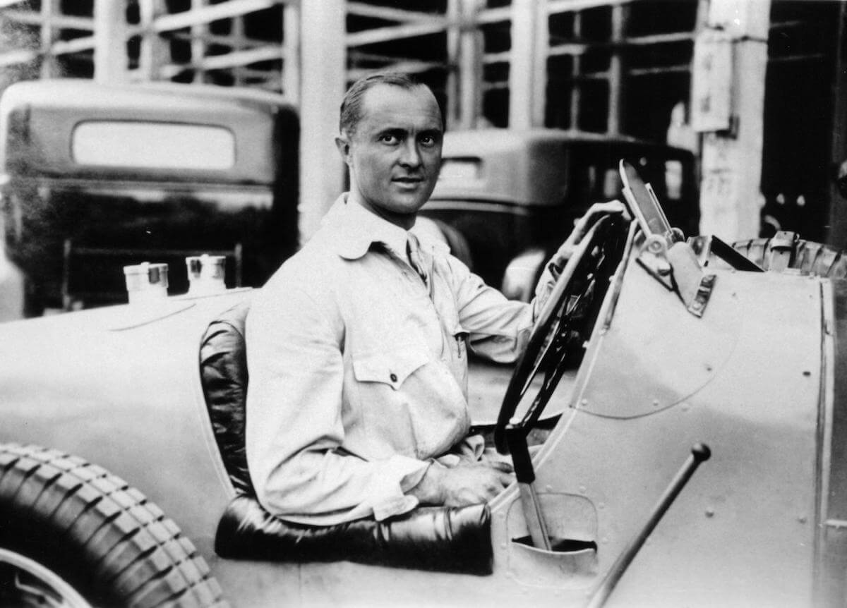 Racing driver Louis Chiron, after whom the Bugatti Chiron is named