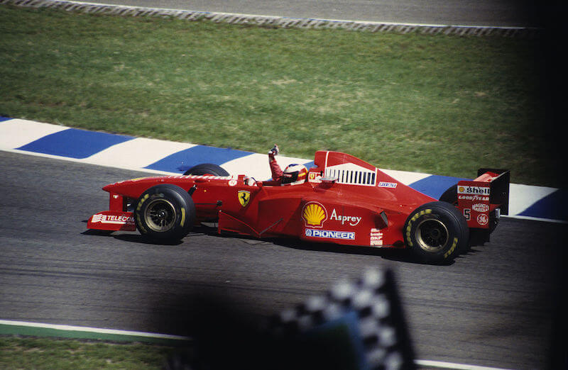 Michael Schumacher at the 1997 German Grand Prix