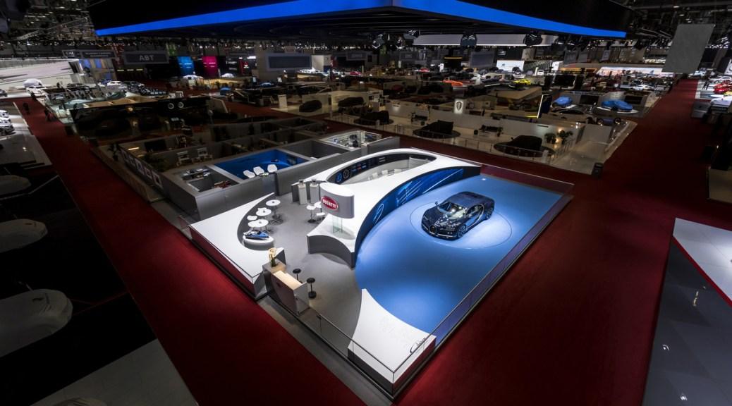 Geneva International Motor Show 2017 Bugatti Honored for Best Stand Design