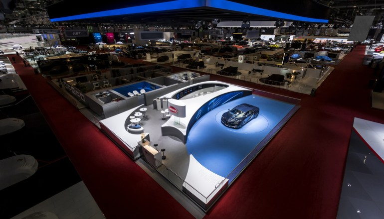 Geneva International Motor Show 2017 Bugatti Honored for Best Stand Design