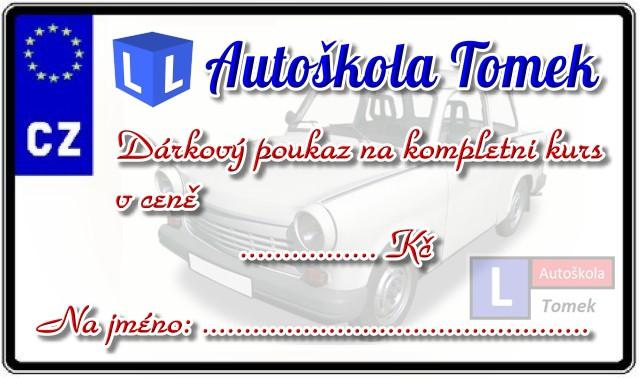 Autoškola Tomek - Dárkový poukaz