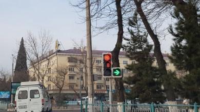 Светофор с таймером в Ташкенте