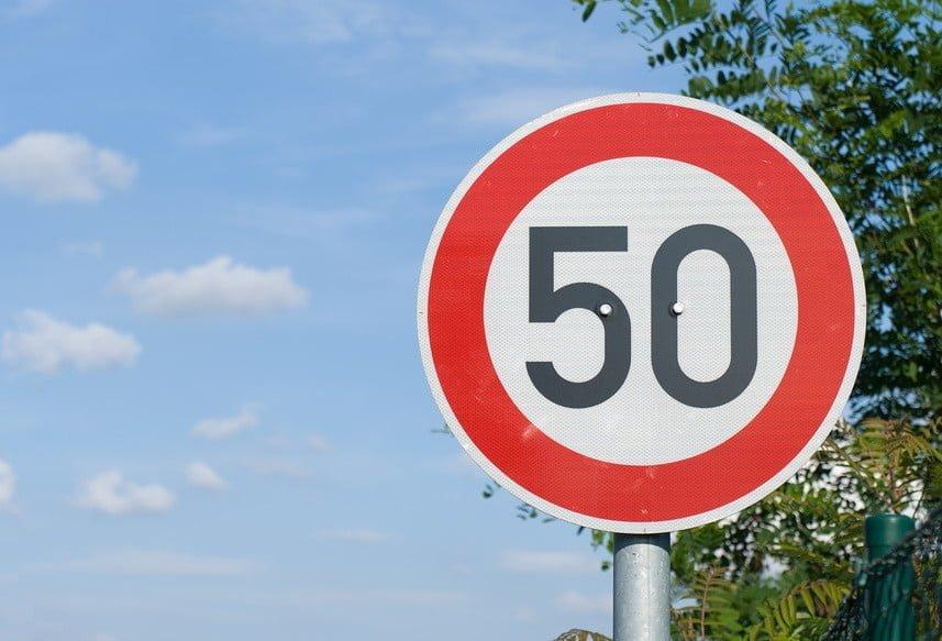 Знак 50 в Ташкенте