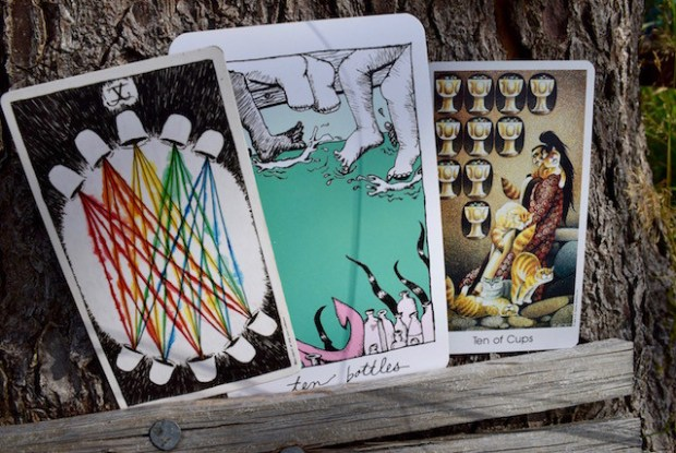 The Wild Unknown Tarot, the Collective Tarot, the Tarot of the Cat People