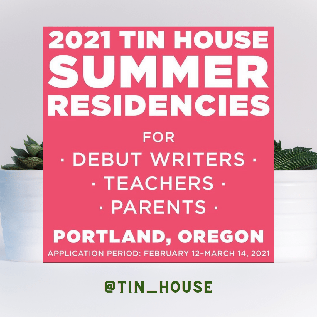 Image shows 2021 tin house summer residences!