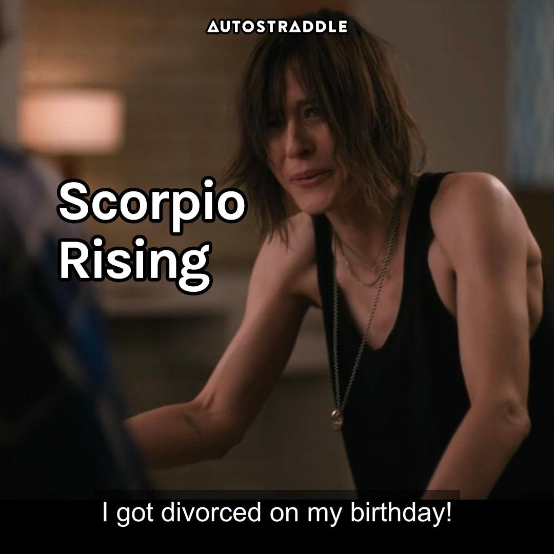 """Scorpio Rising: Shane, incredulous """"I got divorced on my birthday!"""""""
