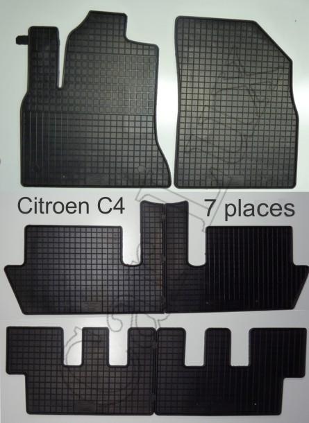 tapis en caoutchouc citroen c4 picasso 7 places