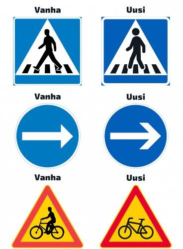 Uusi liikennemerkkejä tulossa käyttöön 1.6.2020 alkaen