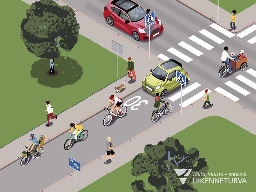 Piha- ja kävelykatujen sääntötuntemuksessa aukkoja – huomioi myös uusi pyöräkatu