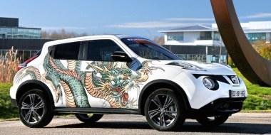 Nissan presenta una versión tatuada de su crossover JUKE en París