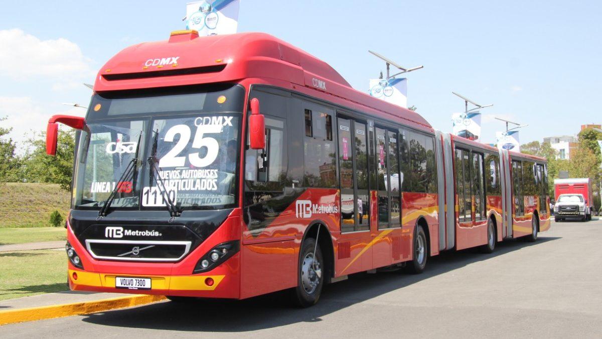 Gana Volvo Buses licitación por nueve biarticulados para Metrobús