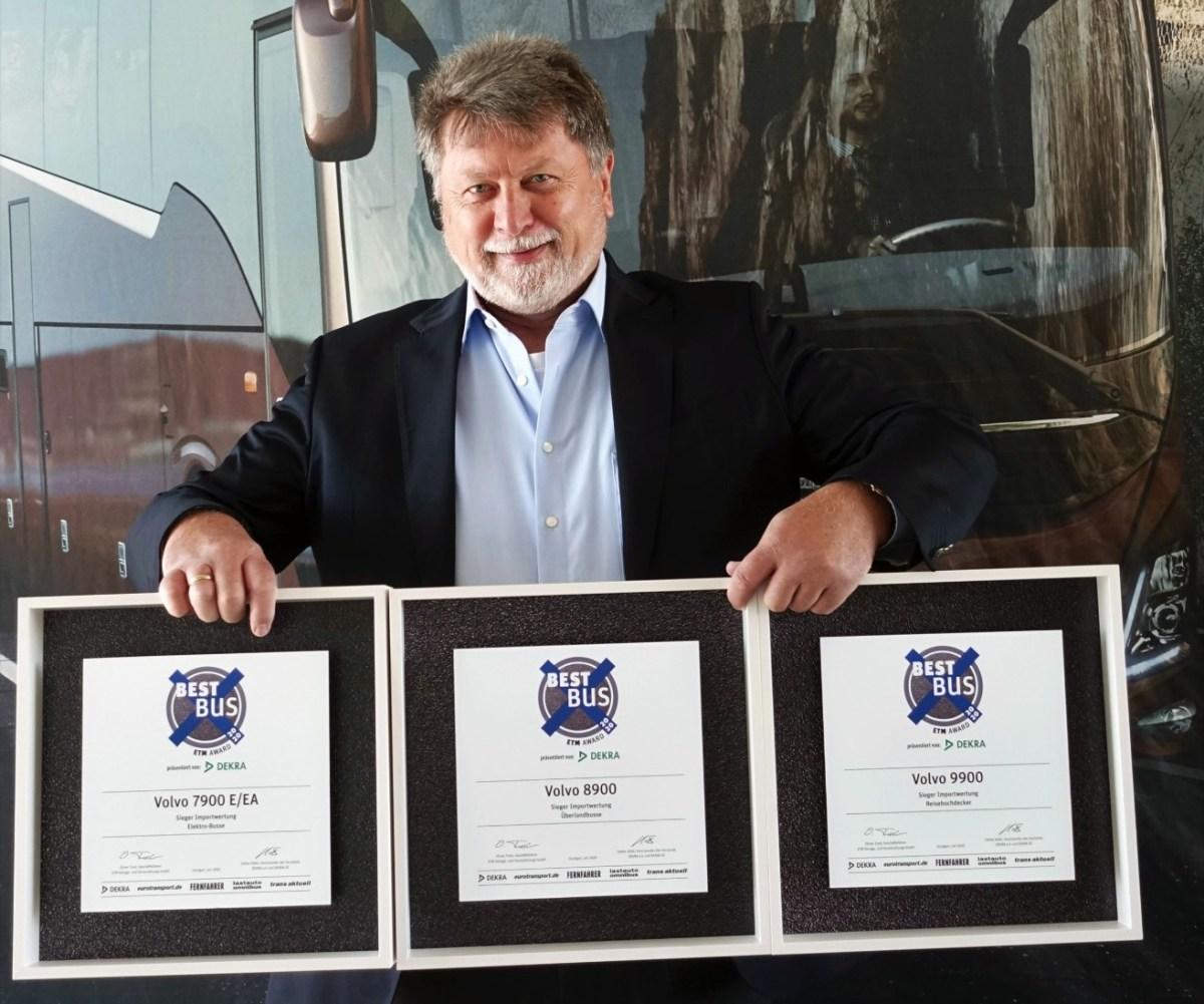 """Volvo, el """"Mejor Autobús"""" en tres categorías de los premios ETM 2020"""