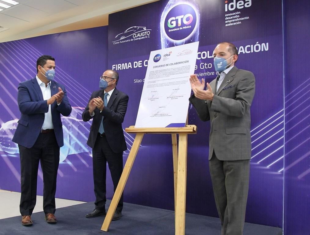 Clúster Automotriz de Guanajuato e IDEA GTO firman convenio de colaboración