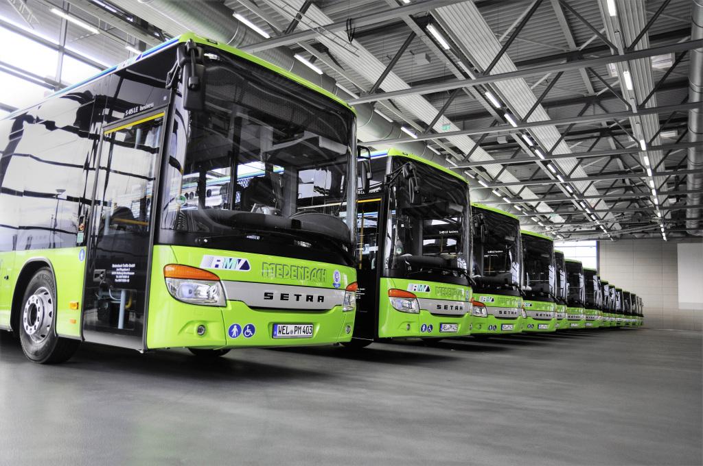 Entrega Setra 25 autobuses de piso bajo en Hessen y Sajonia, Alemania
