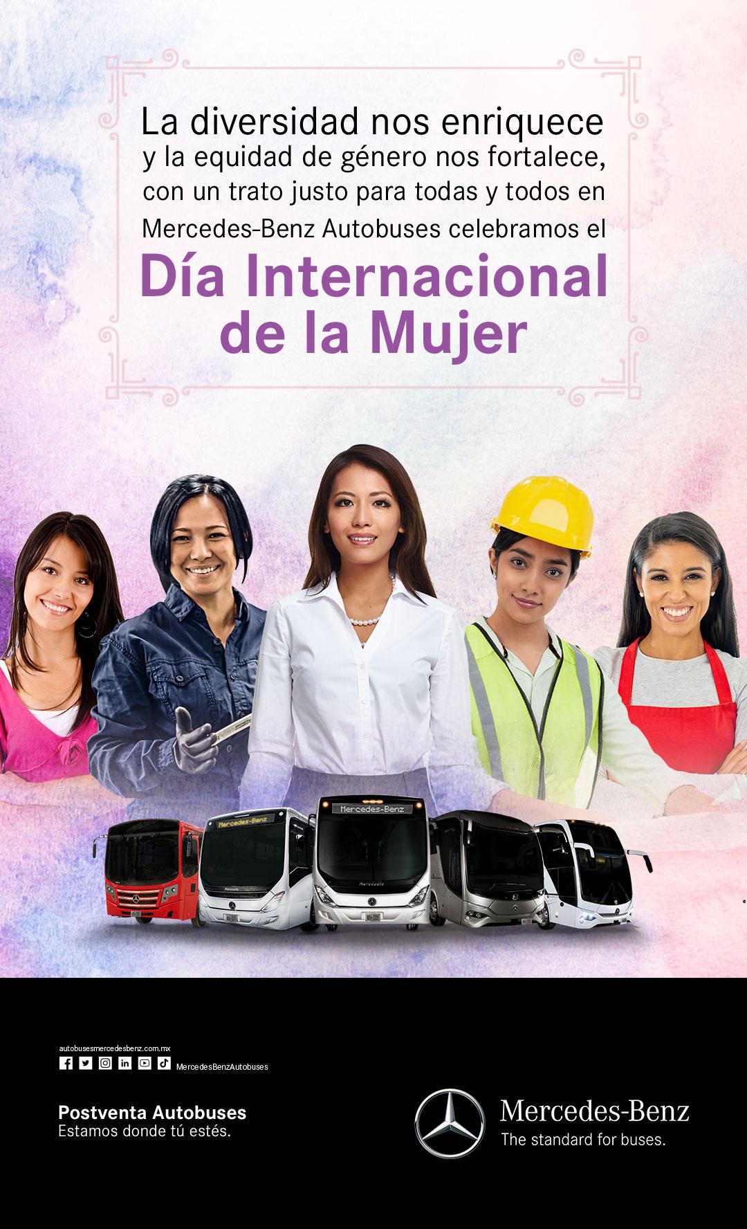 Mujeres, protagonistas en Mercedes-Benz Autobuses y la industria del transporte